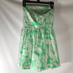 Lilly Pulitzer green and white flower dress